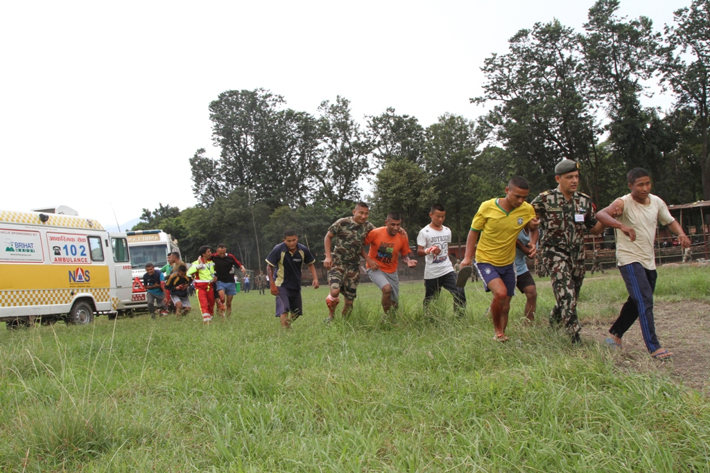 Disaster Drill by Army Headquarters | 2 ambulances along with EMTs were sent for the drill on 22nd September 2016