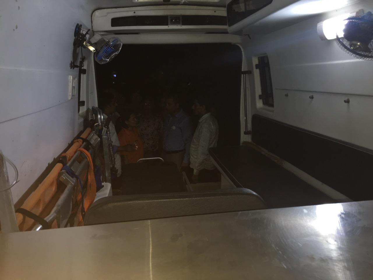 Visit By Gagan Thapa in Chitwan Ambulance on 22nd September 2016